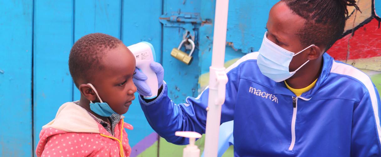 Temperature checks in Nairobi's informal settlements