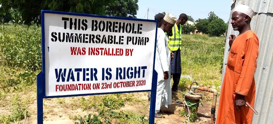 Borehole installation at Bauchi State, Nigeria