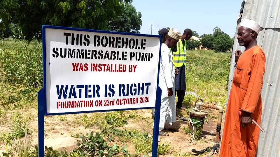 Borehole installation at Bauchi State, Nigeria