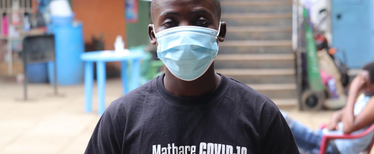 COVID-19 protection measures in Mathare informal settlement, Nairobi