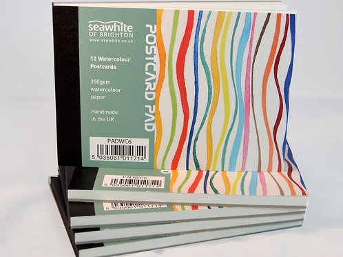 Seawhite Watercolour Postcards A6 12 Pack