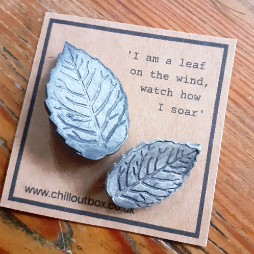 Clay Leaf Brooches