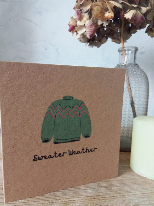 Sweater Weather Card