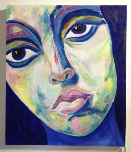 portrait acrylic painting on canvas pa um 002