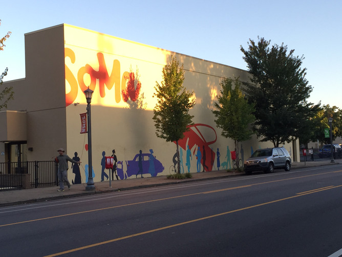 South on Main Mural Underway
