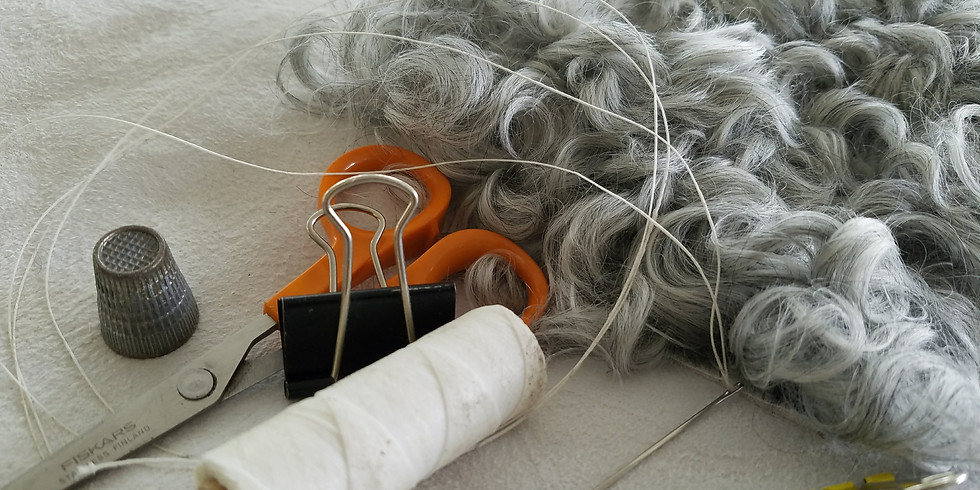 Hand-sewing in Sheepskin