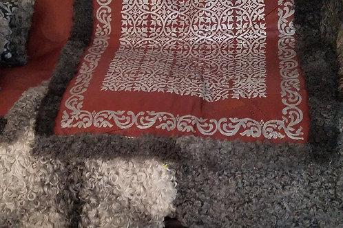 Silver & Leather Gotland Sheepskin Blanket