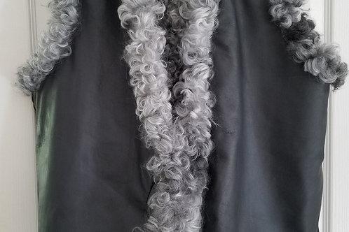 Vest Black - Gotland Sheepskin & Lamb leather