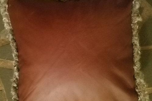 "Pillow - Gotland X Lamb leather 12"" x 12"""