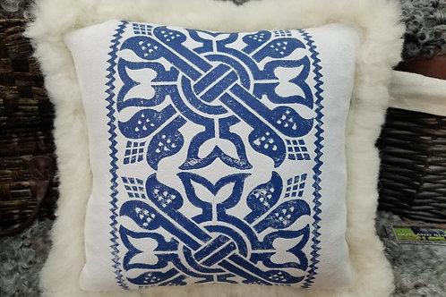 White & Blue Pillow