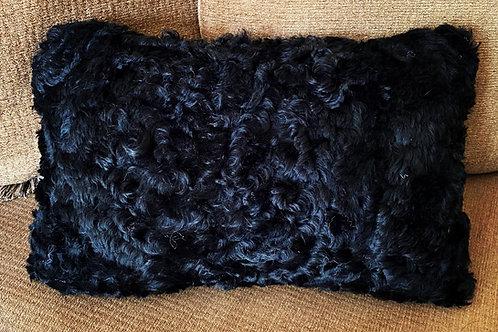 Black Sheepskin Cushion