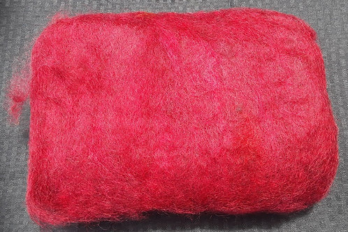 Carded Gotland wool - Red