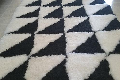 Sheepskin Rug - Black & White