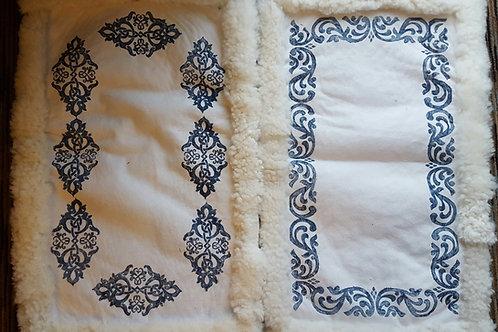 "Small Pelt Blankets 24""x36"" - Blue Patterns"