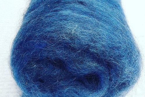 Carded Gotland wool - Blue