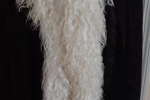 Scarf - White Longwool
