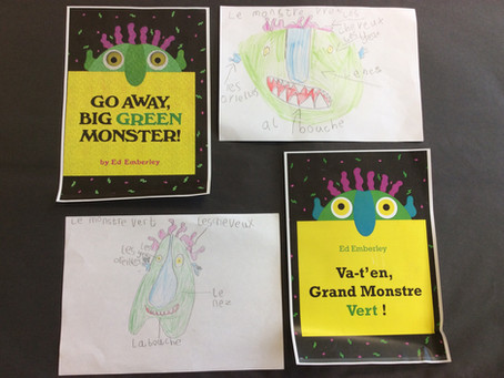 Year 1 'Go Away, Big Green Monster' and Self Portraits