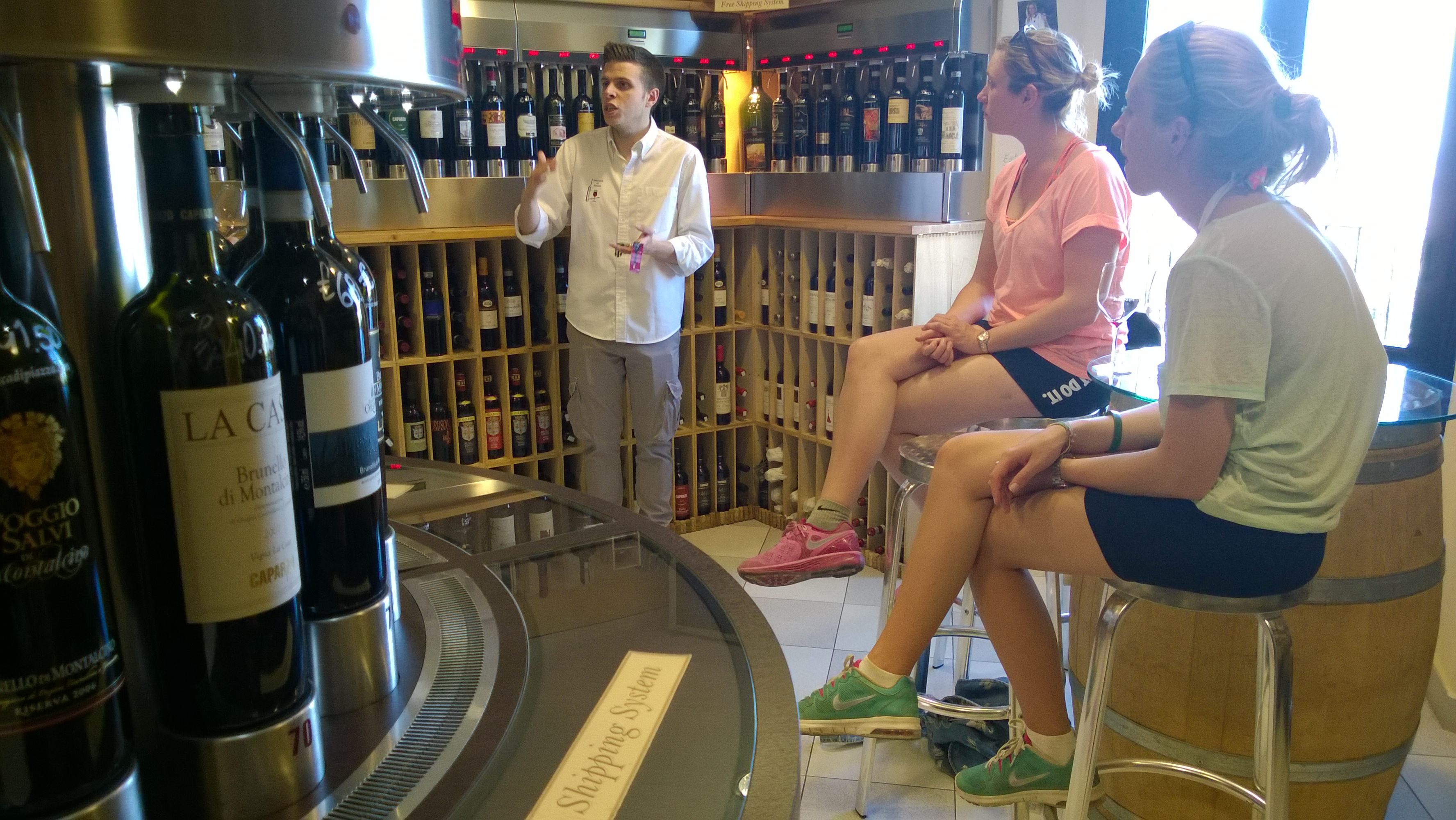 Tasting Brunello wine