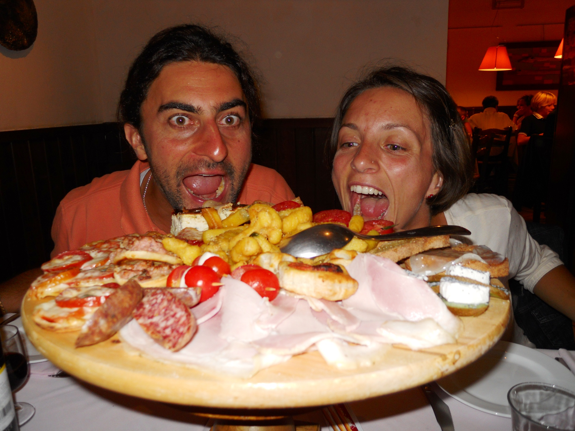 Me and Lorenzo... hungry!