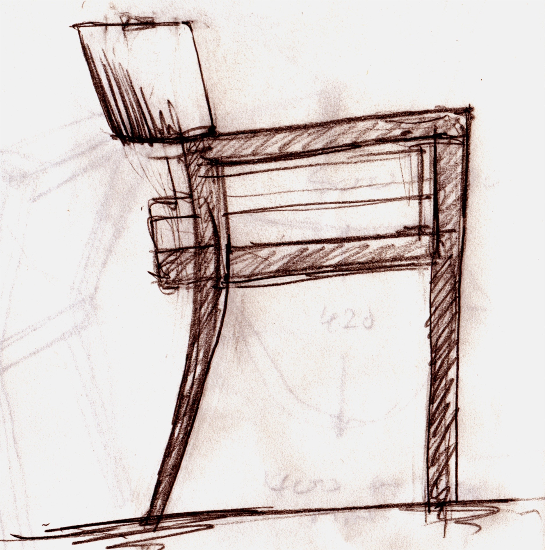 Wenge chair sketch