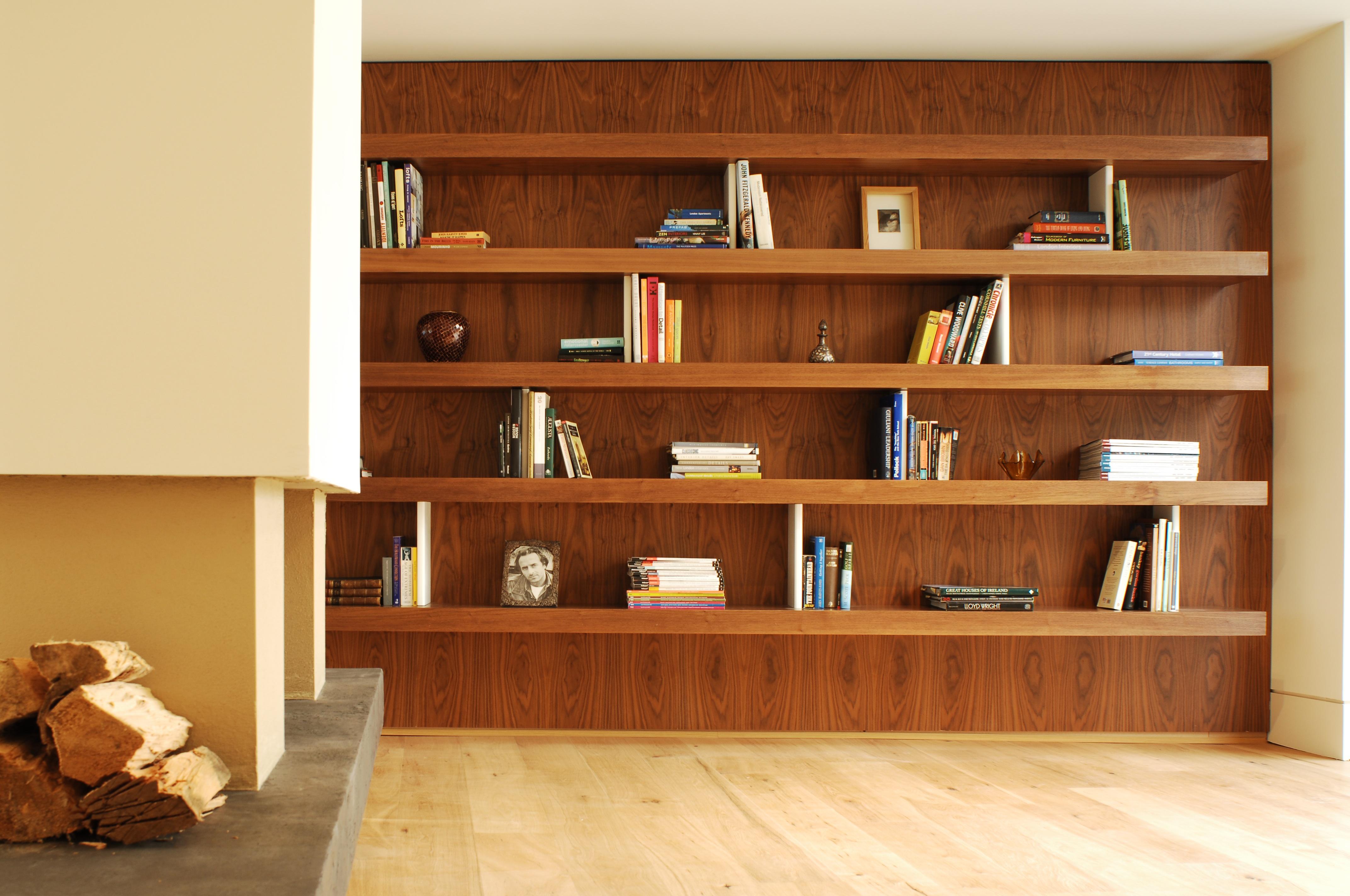 Walnut Wall panels & Shelves