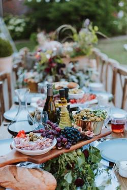 wedding table tapas