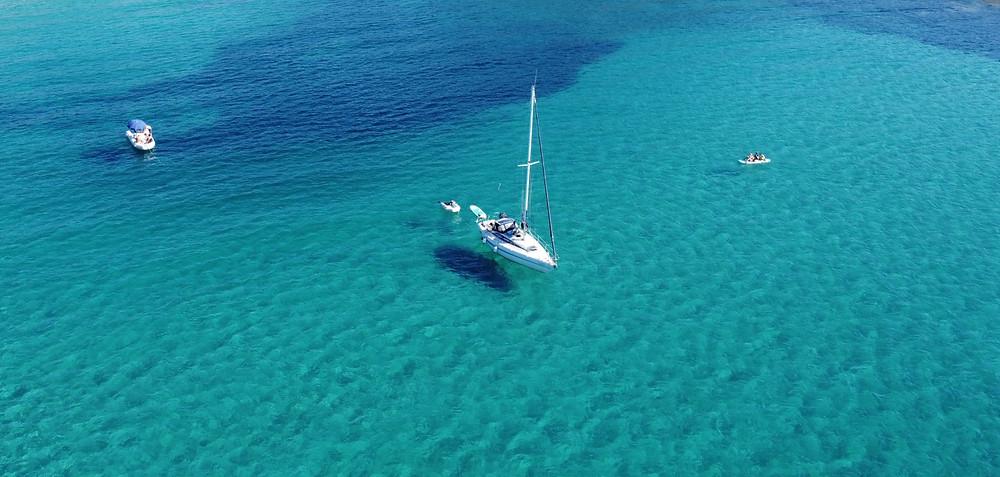 Segelyacht Drohne SUP Boot