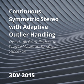 Continuous Symmetric Stereo with Adaptive Outlier Handling