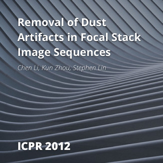Removal of Dust Artifacts in Focal Stack Image Sequences