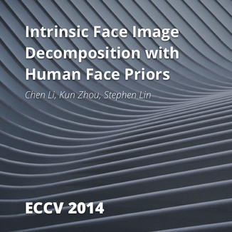 Intrinsic Face Image Decomposition with Human Face Priors