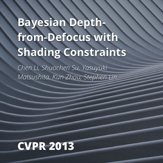 Bayesian Depth-from-Defocus with Shading Constraints