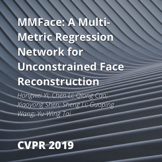 MMFace: A Multi-Metric Regression Network for Unconstrained Face Reconstruction