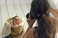 making of grismedio fotografia newborn