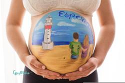 belly painting pintabarrigas embarazo za