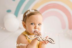 fotografia primer cumpleaños smash cake zaragoza fotografa infantil bebe 3