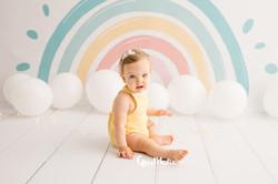 fotografia primer cumpleaños smash cake zaragoza fotografa infantil bebe 1