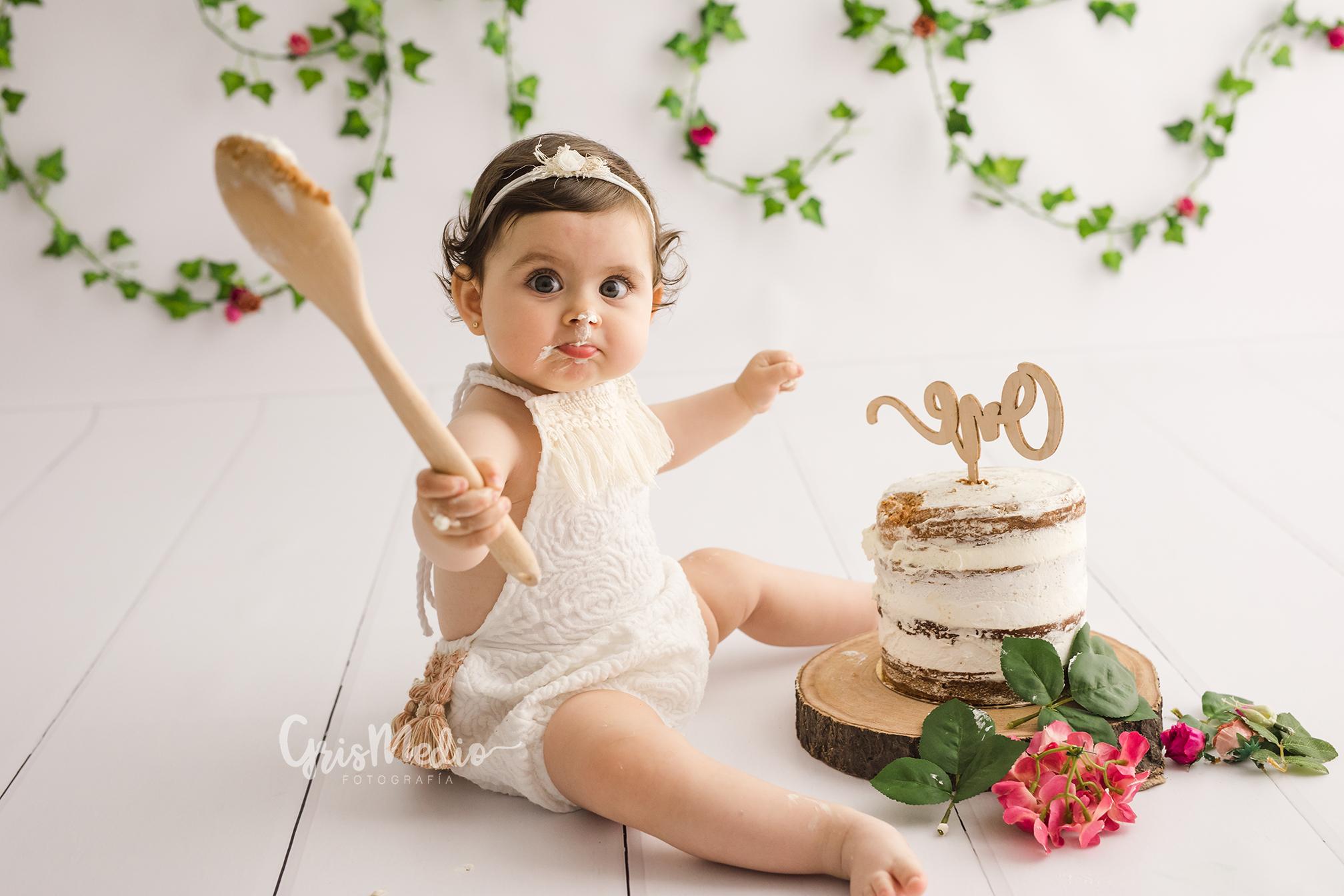 smash cake Zaragoza primer cumpleaños