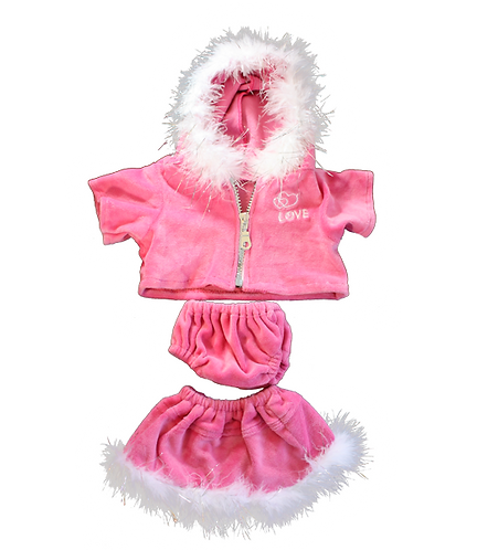 """Pink """"Love"""" Outfit 16 inch"""