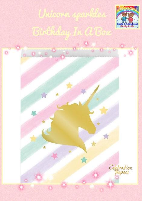 Unicorn Sparkle Paper Treat Bags - 22cm