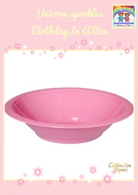 Baby Pink Plastic Bowls