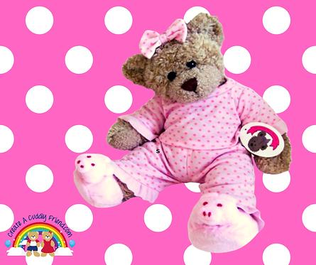 Pink Polka Dot PJ's with Piggie Slippers 16 inch