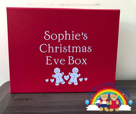 Red Personalised Christmas Eve Box (Box only)