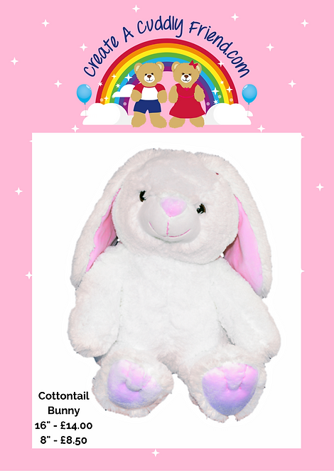 Cottontail Bunny 8 inch Create A Cuddly Friend Package