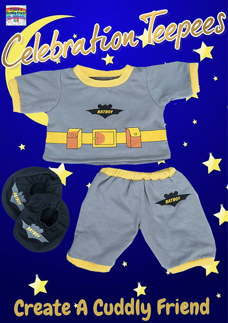 Batboy PJs with Slippers 16 inch