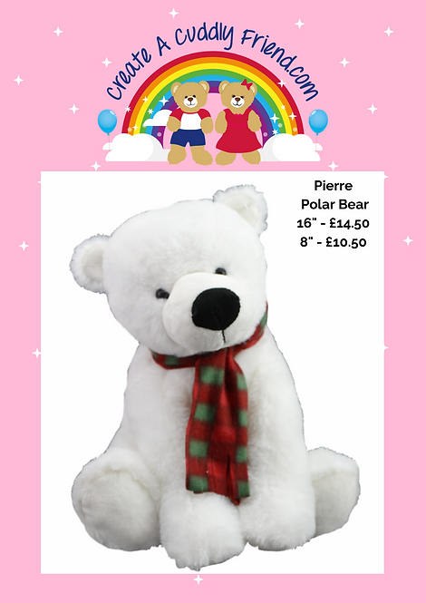 Pierre Polar Bear 16 Inch Create A Cuddly Friend Package