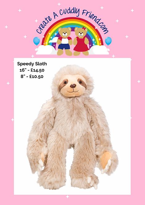 Speedy Sloth 8 Inch Create A Cuddly Friend Package