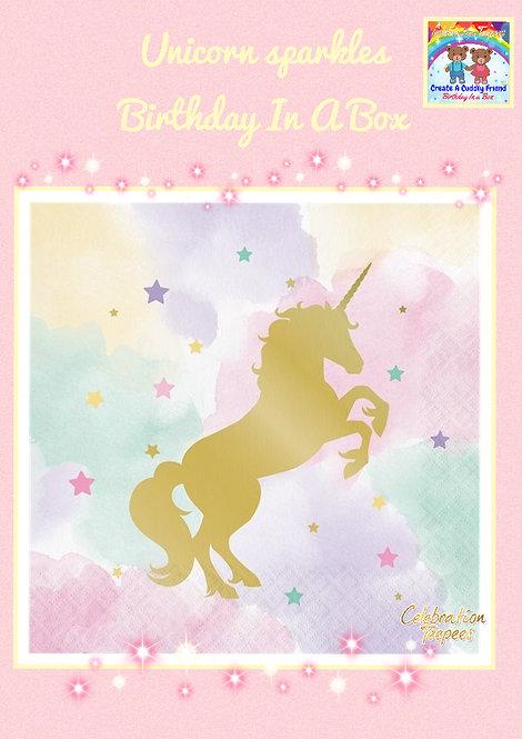 Unicorn Sparkle Paper Napkins - 33 cms