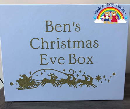 White Personalised Christmas Eve Box (Box only)