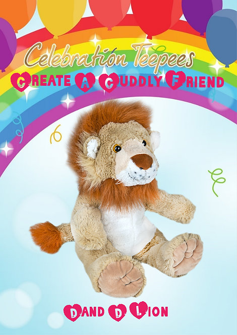 Dand D Lion 16 inch Create A Cuddly Friend Package
