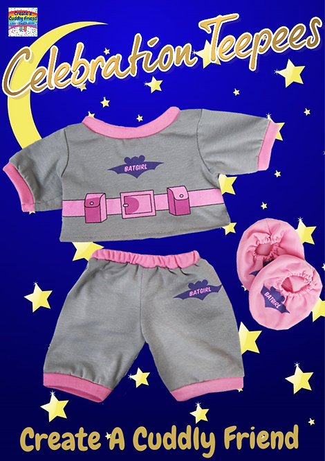 Batgirl PJs with slippers 16 inch